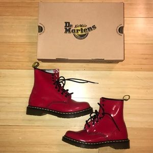 *Never Worn* Red Dr. Martens